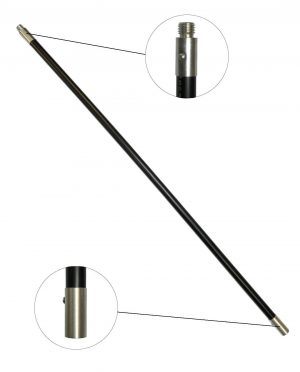 Schoorsteenveegstok zwart 1 meter M18